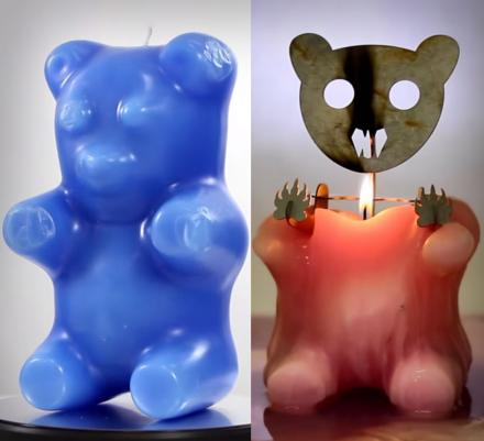 Gummy Bear Skeleton Candle