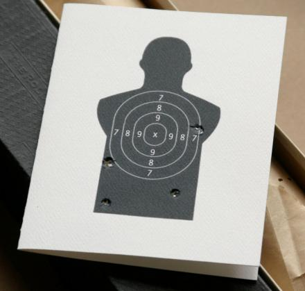Gun Target 'Miss You' Card