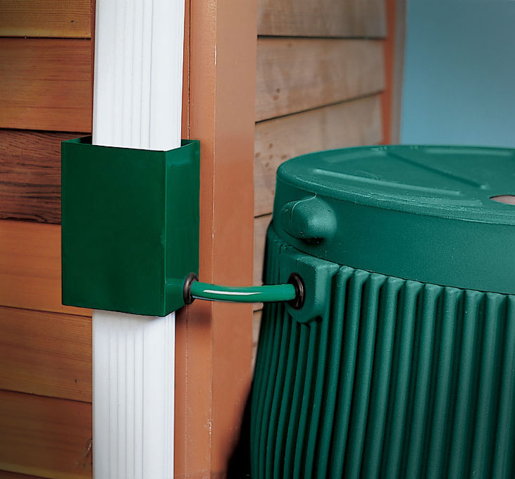 Gutter Downspout Diverter For Rain Barrel