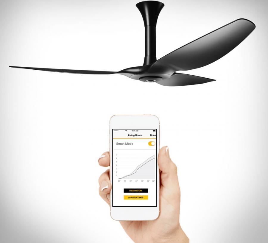 haiku smart fan turns on when you enter the room. Black Bedroom Furniture Sets. Home Design Ideas