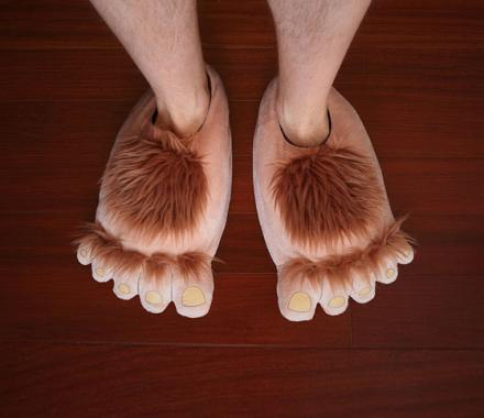 Hairy Hobbit Feet Slippers