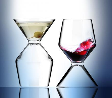 Half Martini Glass Half Wine Glass
