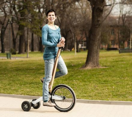 Halfbike: A Stand Up Tricycle