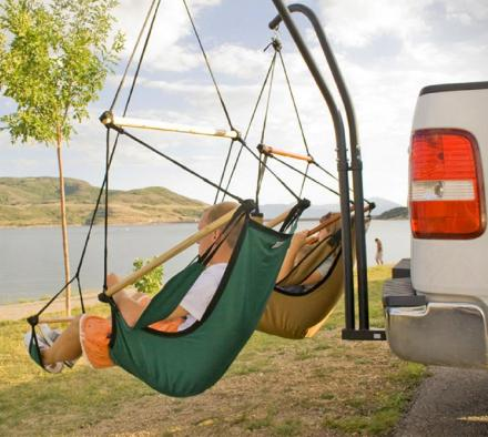 Hammaka: A Trailer Hitch Dual Hammock Chair Set