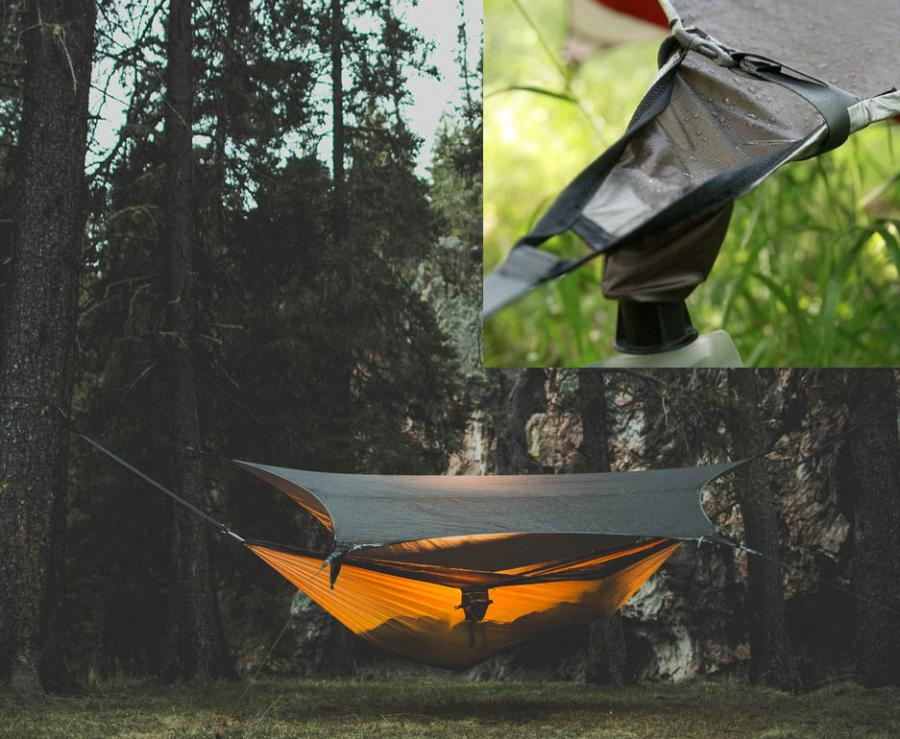 Kammock Glider Hammock Tent Tarp That Catches Rain