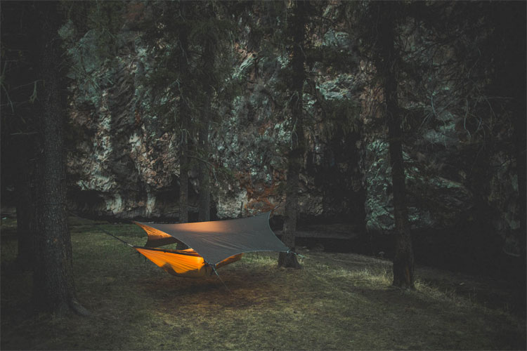kammock glider hammock tent tarp that catches rain. Black Bedroom Furniture Sets. Home Design Ideas