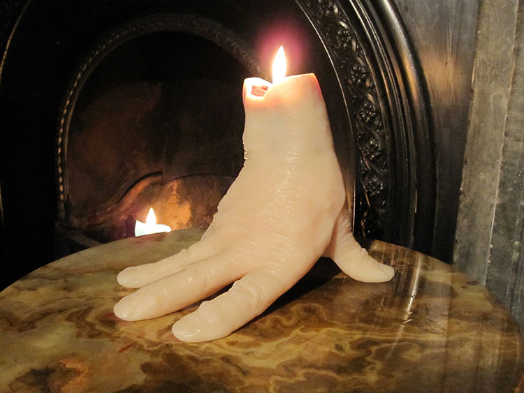 Hand Candle That Bleeds As It Burns