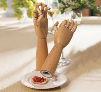 Hand Shaped Salt And Pepper Mills