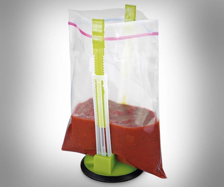 Stand Designs Zip : Hands free ziploc bag holder