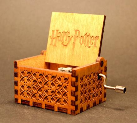 Harry Potter Theme Wooden Music Box