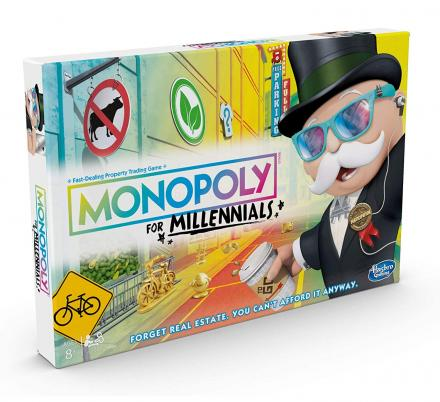 Hasbro Has Come Out With Monopoly for Millennials Board Game