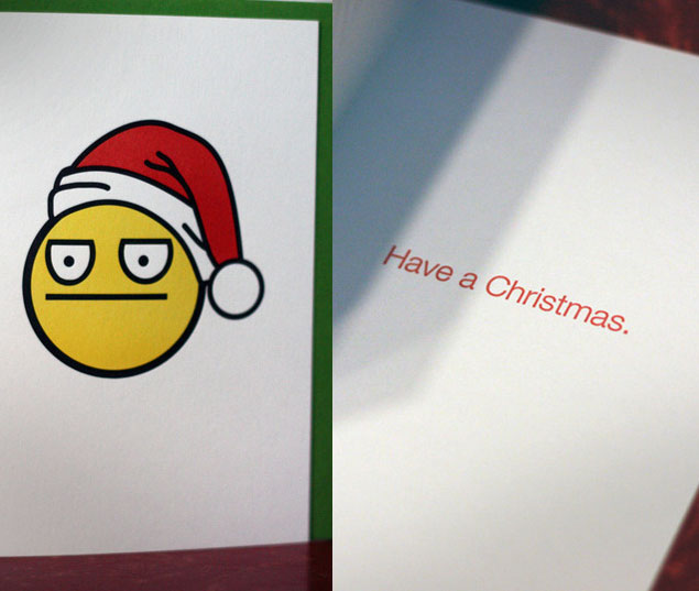 do you have no emotion towards christmas and want everyone to know it and hopefully feel the same way maybe these neutral christmas cards are perfect for - Non Photo Christmas Cards