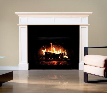 This Fake Fireplace Wall Decal Lets You Imagine What Life Would Be Like With a Fireplace