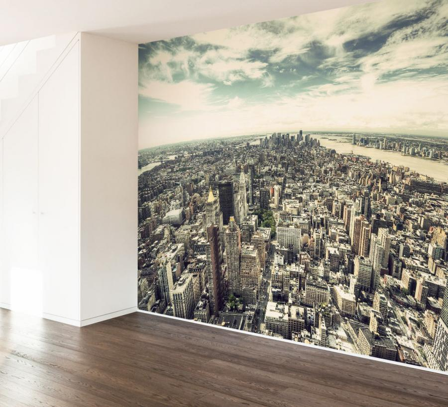 hd new york city wall mural decal pin new york city wall mural is part of look around the