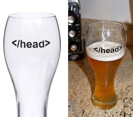 Head Tag HTML Beer Glass