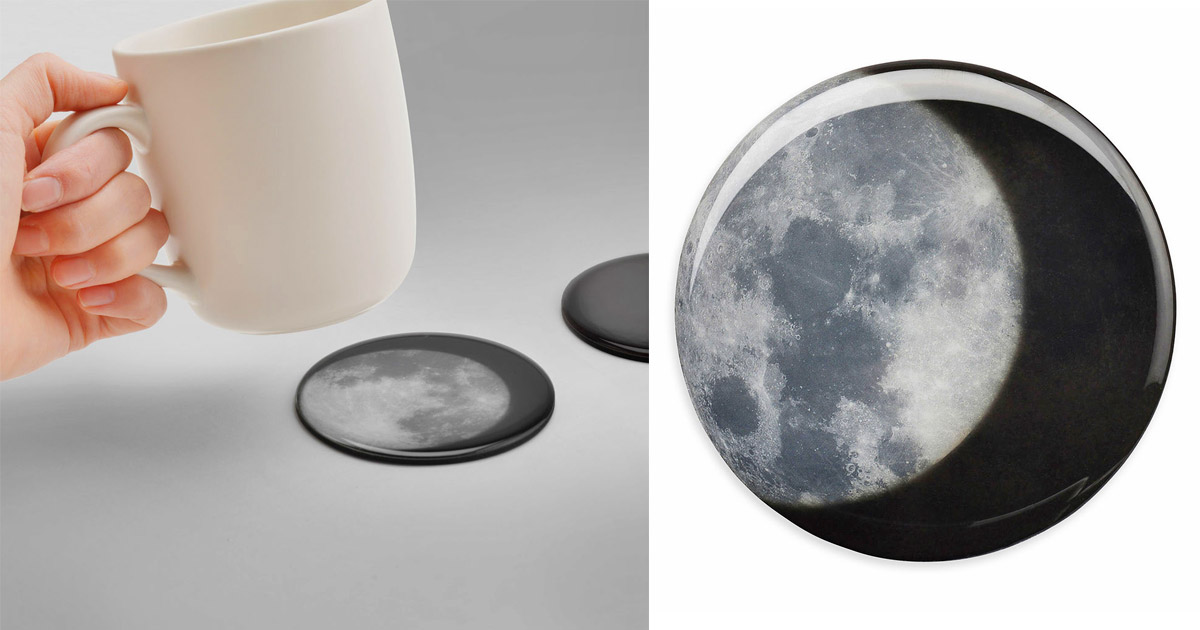 Heat-Activated Moon Coasters (Set of 4)