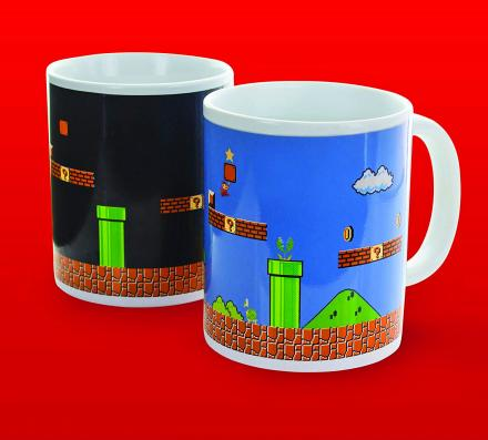 Heat Changing Mario Mug Turns From Night Level To Day Level
