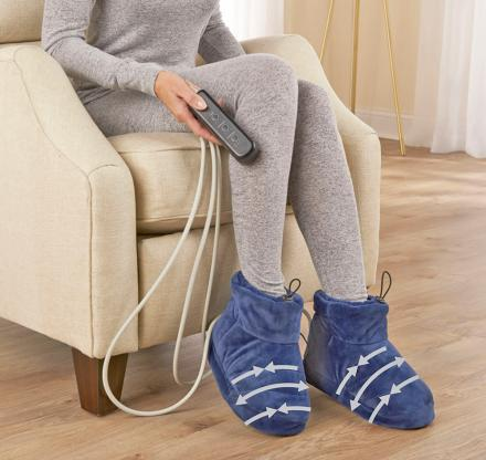 There Are Now Heated Slippers That Also Massage And Compress Your Feet