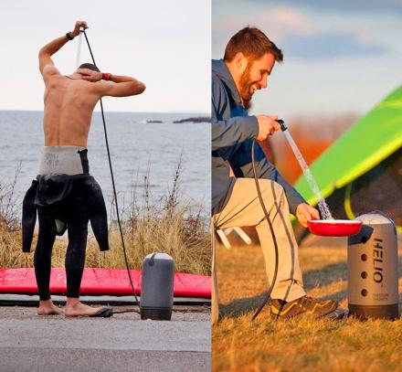 Helio Portable Shower Offers a Pressurized Shower Anywhere
