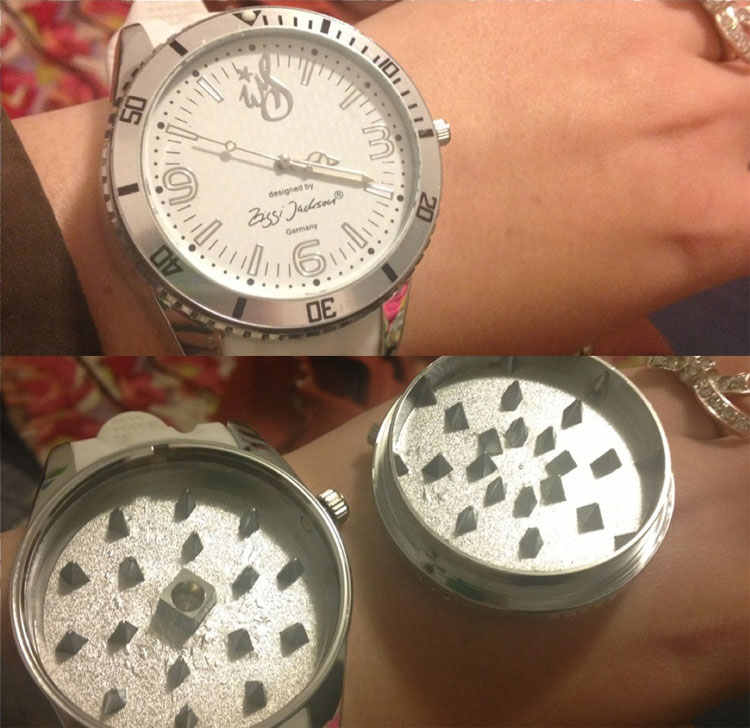 Stash Watch: Weed Grinder Watch