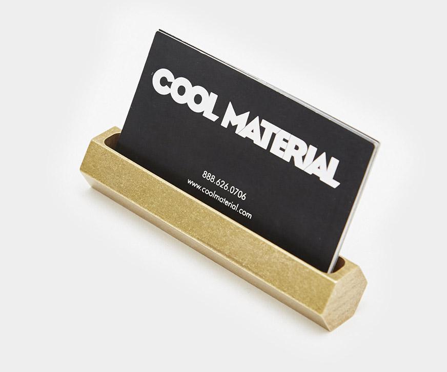Hex Brass Business Card Holder