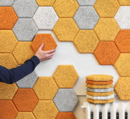 These Hexagon Wall Tiles Look Beautiful and Help Absorb Sound