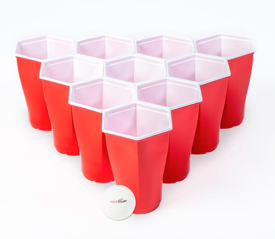 Hexcups Are Hexagon Shaped Beer Pong Cups That Have No
