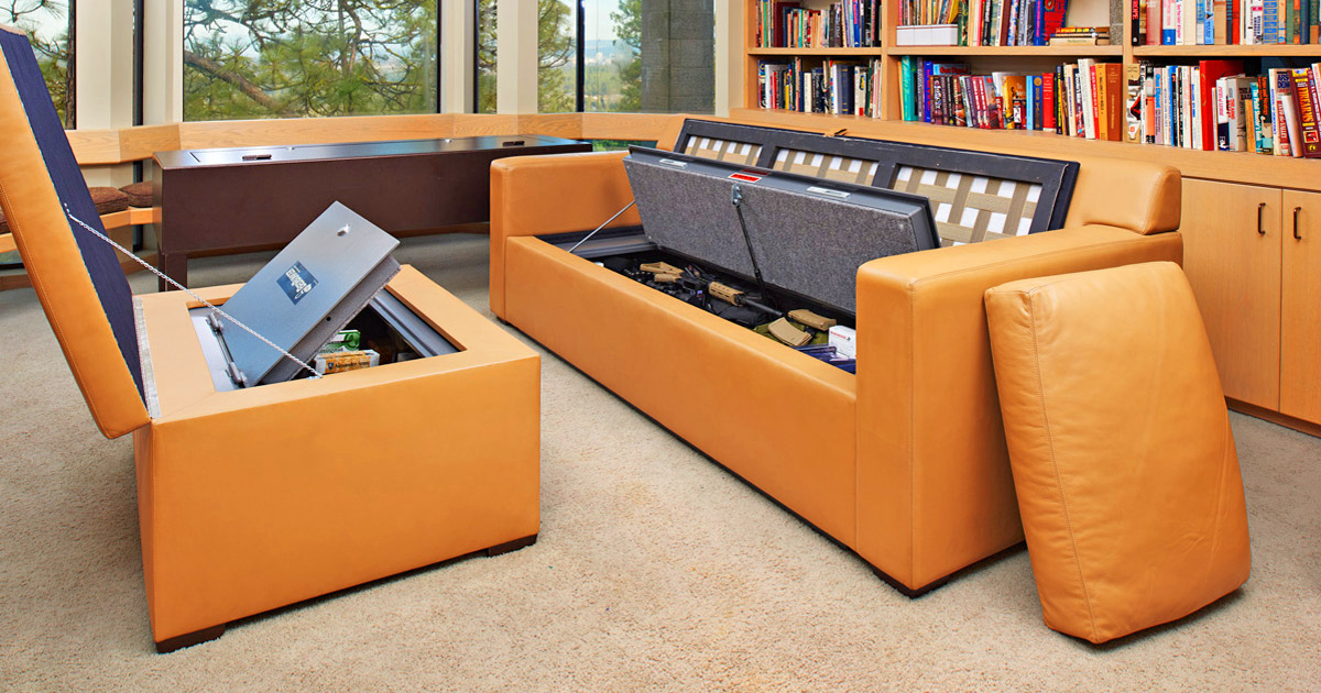 Hidden Furniture Safes That Go In Your Couch, Bed, or Ottoman