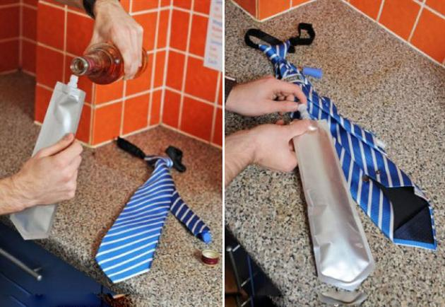 Hidden Tie Flask 1