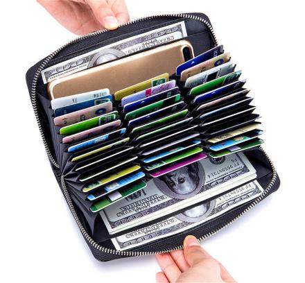 High-Capacity 36 Card Slot Wallet