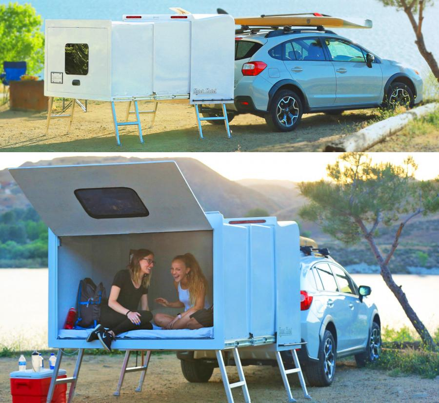 Hitch Hotel Expandable Wheel Less Trailer Camper