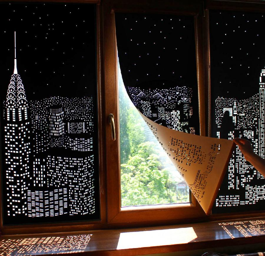 HoleRoll: Blackout Curtains With Holes To Create
