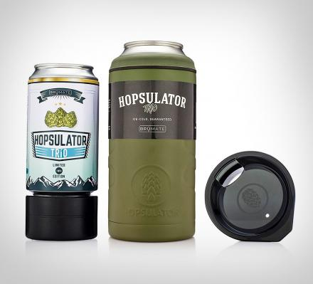 hopsulator trio 3 in 1 beer koozie thermos and pint glass