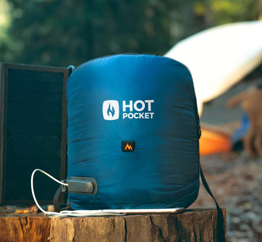 new products b47a0 87852 Hot Pocket Heated Camping Pouch Heats Your Sleeping Bag