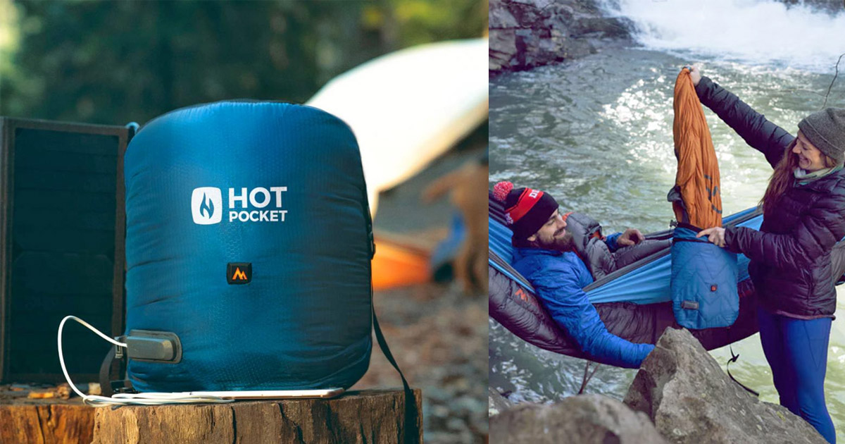 Hot Pocket Heated Camping Pouch Heats Your Sleeping Bag