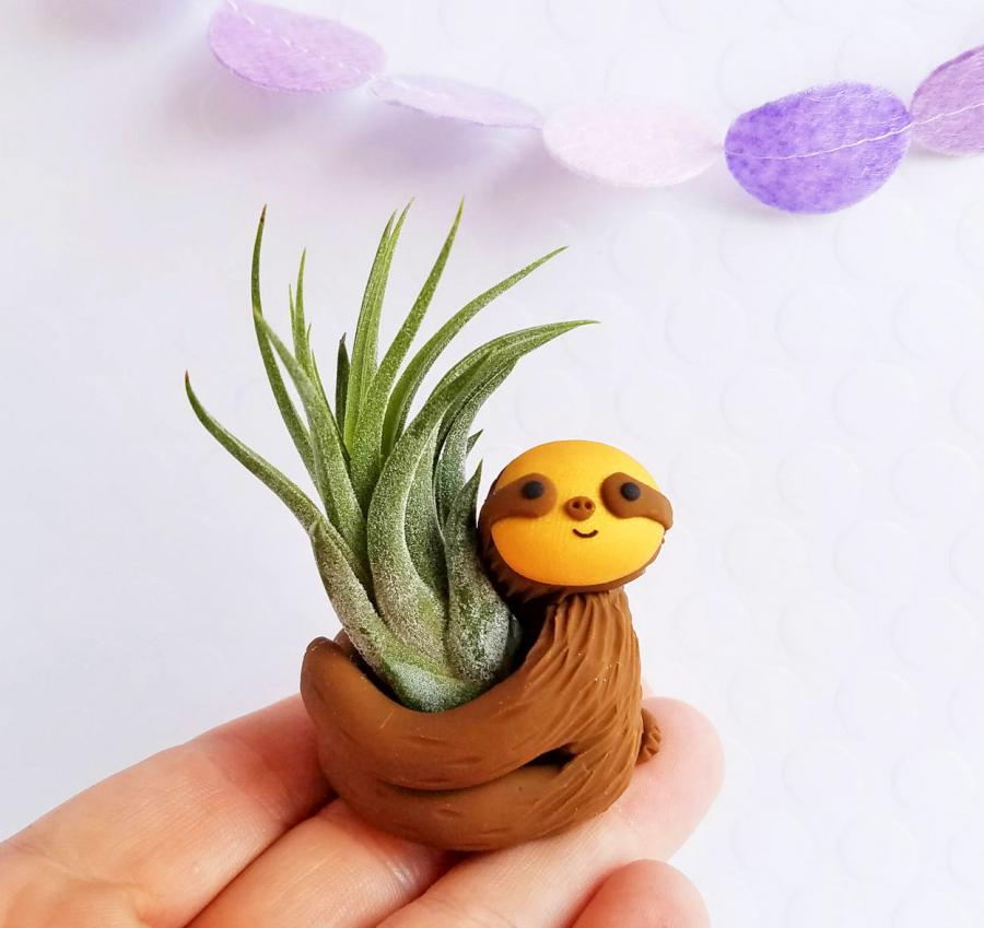 Hugging Sloth Air Planter