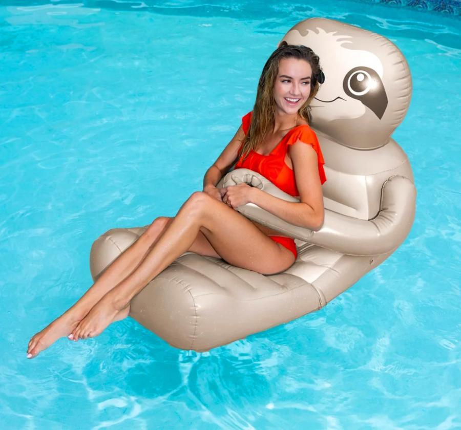 Hugging Sloth Pool Float Lounger