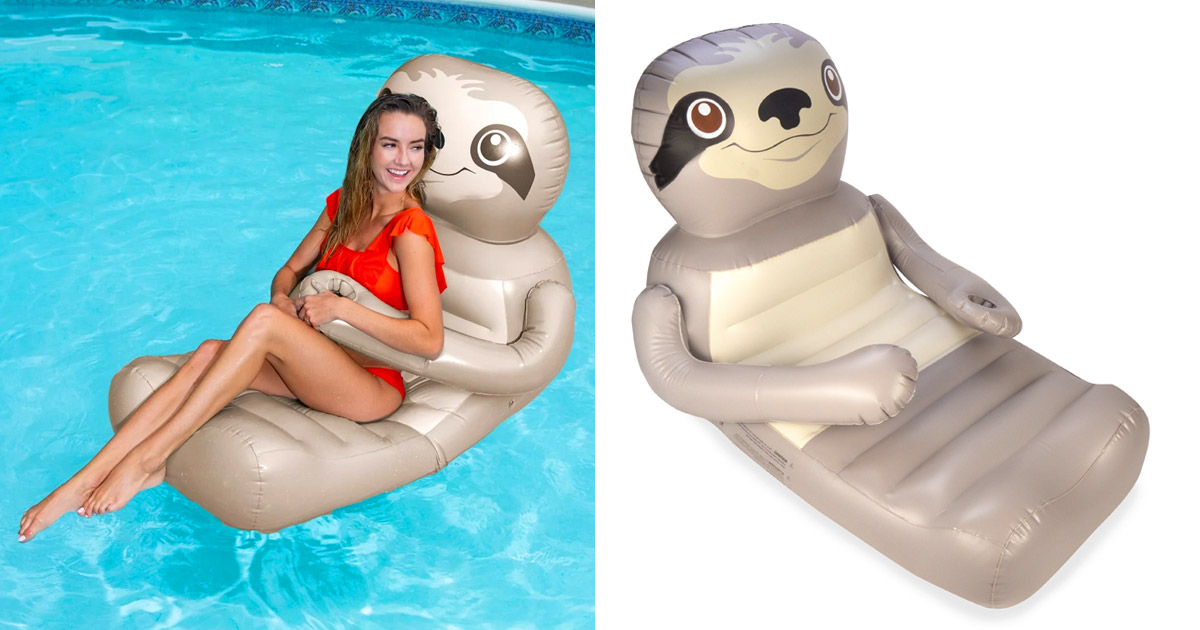 This Hugging Sloth Pool Float Lounger Is a Must For Lonely Swimmers