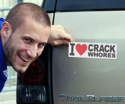 I Love Crack Whores Bumper Magnet