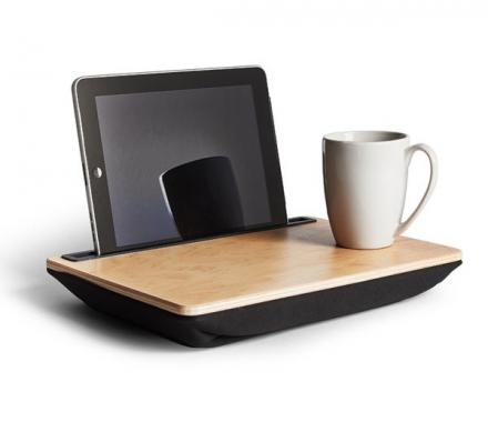 iBed: A Wooden Lap Desk For Browsing Your Tablet With Food or Drink