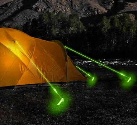 Incredible Glow In The Dark Tent Rope Charges During The Day, Prevents Tripping In The Dark