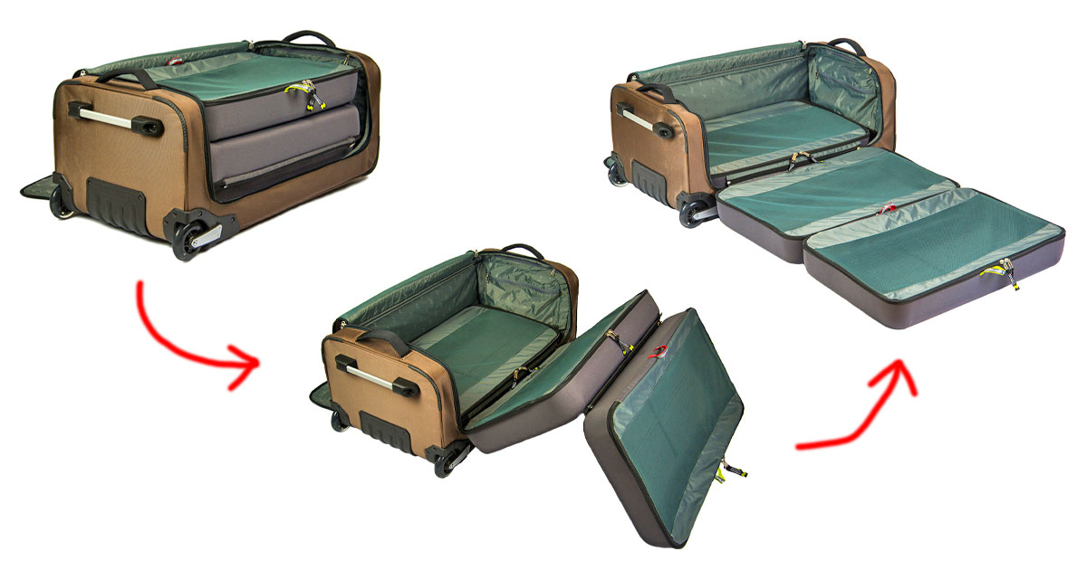 Incredible Oregami Folding Luggage Makes Packing/Unpacking A Breeze