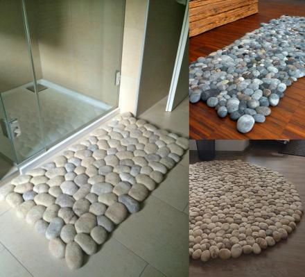 This Company Makes Custom Wool Stone Rugs That Looks Like Connected Pebbles