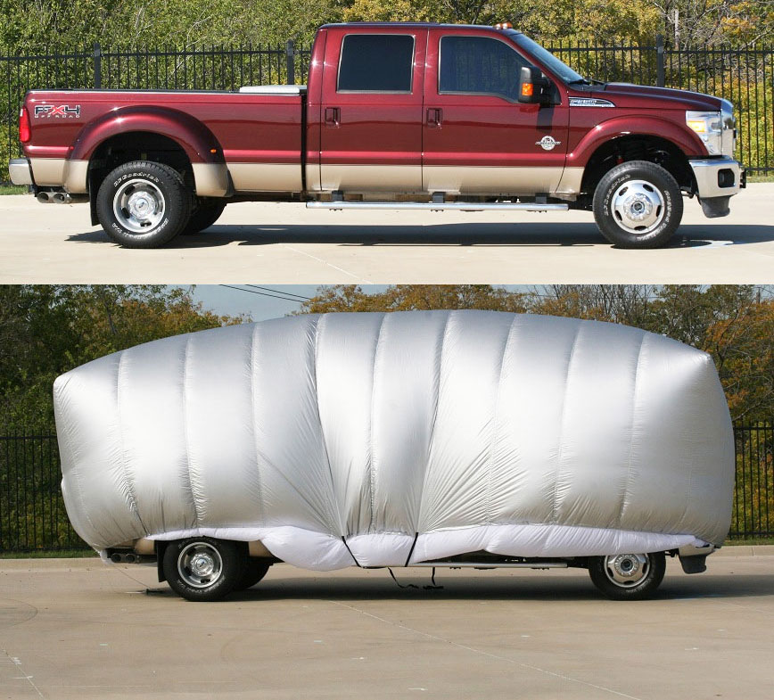 Hail Protection Car Cover >> Inflatable Hail Protector For Your Car