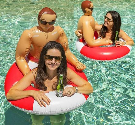 This Inflatable Hunk Pool Float Will Keep You Company In The pool