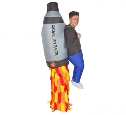 Inflatable Jetpack Costume With Fake Legs