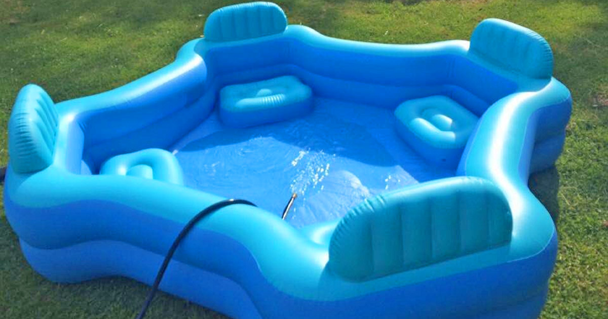 This Inflatable Lounge Chair Pool is The Ultimate Relaxing Spot This Summer