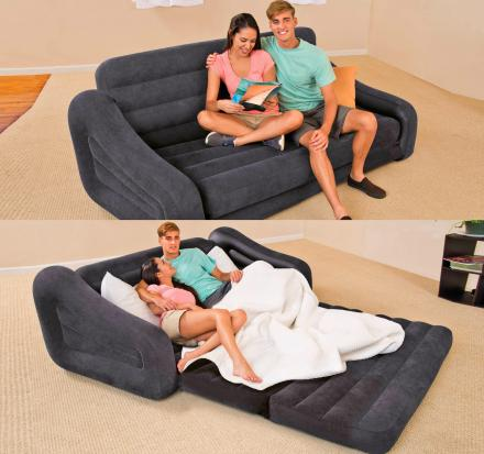 Inflatable Pull-Out Queen-Size Sofa Bed