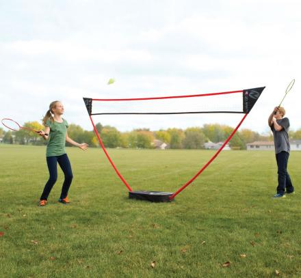 This Portable Badminton Court Sets Up In Seconds