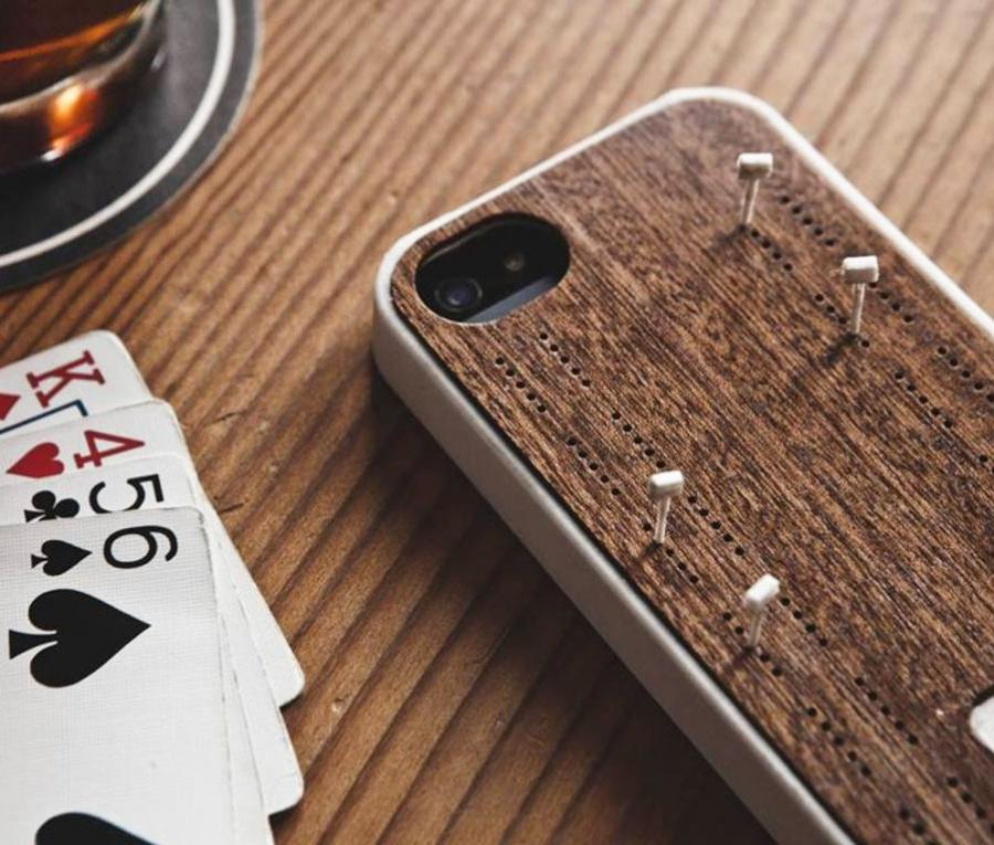 Iphone Case With Cribbage Board On The Back